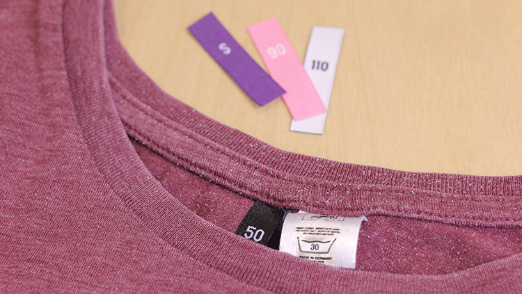 How to sew size tags onto your clothes