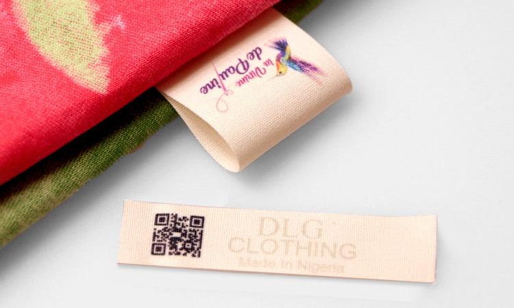 Exemples étiquettes en coton